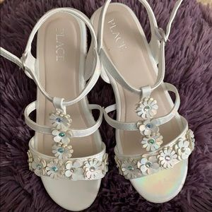 Kids White Wedge Sandal